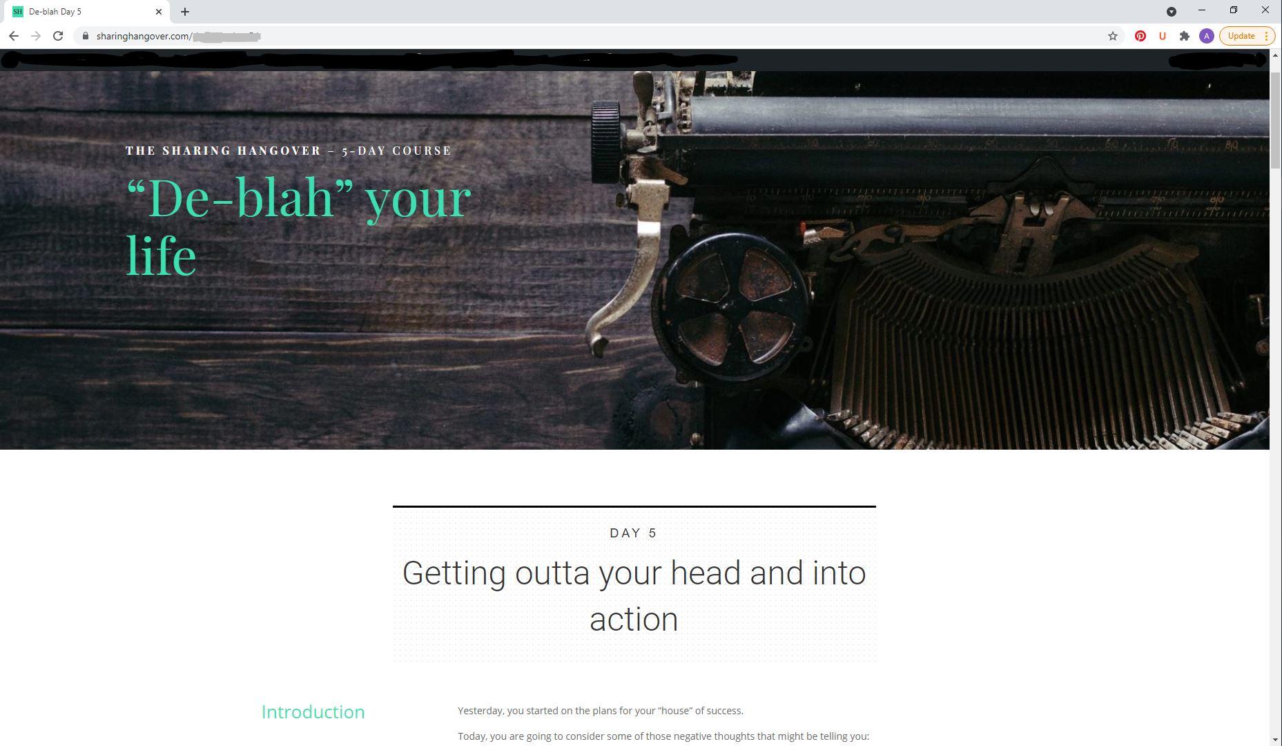deblah free email course