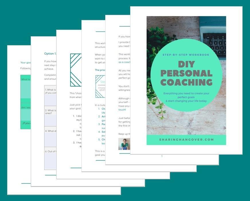 DIY personal coaching goals workbook